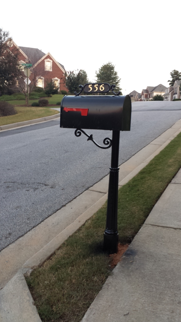 Our shiny new mailbox!